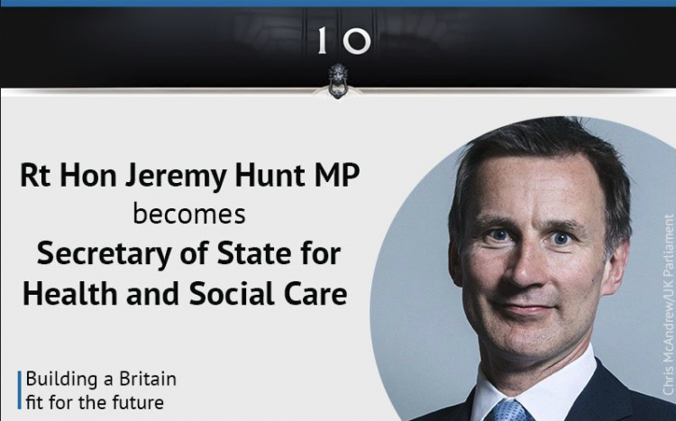 Jeremy Hunt Secretary of State for Health and Social Care
